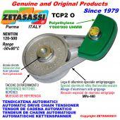 BRAS TENDEUR DE CHAÎNE TCP2 avec patin tendeur de chaîne tête ovale Newton120:500