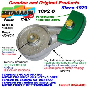 AUTOMATIC ARM CHAIN TENSIONER TCP2 with chain slider oval head Newton120:500