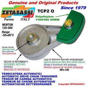 TENDICATENA ROTANTE TCP2 con pattino tendicatena a testa ovale Newton120:500