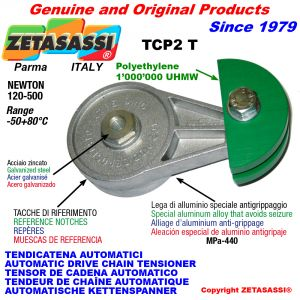 BRAS TENDEUR DE CHAÎNE TCP2 avec patin tendeur de chaîne tête ronde Newton120:500