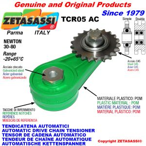 AUTOMATIC ARM CHAIN TENSIONER TCR05AC with idler sprocket AC Newton30:80