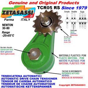 BRAS TENDEUR DE CHAÎNE TCR05 avec pignon tendeur RS RD RT Newton30:80