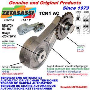 BRAS TENDEUR DE CHAÎNE TCR1AC avec pignon tendeur AC Newton50:180