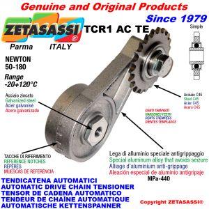 TENDICATENA ROTANTE TCR1ACTE con pignone tendicatena temprato ACTE Newton50:180
