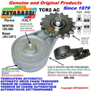 AUTOMATIC ARM CHAIN TENSIONER TCR2AC with idler sprocket AC Newton120:500