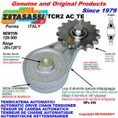 AUTOMATIC ARM CHAIN TENSIONER TCR2ACTE with hardened idler sprocket ACTE Newton120:500