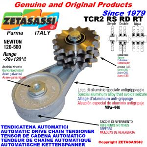 AUTOMATIC ARM CHAIN TENSIONER TCR2 with idler sprocket RS RD RT Newton120:500