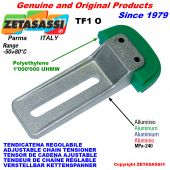 ADJUSTABLE CHAIN TENSIONER TF1 with chain slider oval head