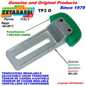 ADJUSTABLE CHAIN TENSIONER TF3 with chain slider oval head