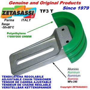 ADJUSTABLE CHAIN TENSIONER TF3 with chain slider round head