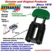 TENSOR DE CADENA TO05DP1 INOX cabeza oval (Cuerpo en PA66+d.m. Cabeza en Polietileno) Newton110:240