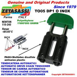 TENDICATENA TO05DP1 INOX testa ovale (Corpo in PA66+bis. mol.testa in Polietilene) Newton110:240