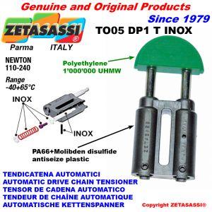 TENDEUR DE CHAÎNE TO05DP1 INOX tête ronde (Corps en PA66+b.m. Tête en Polyéthylène) Newton110:240