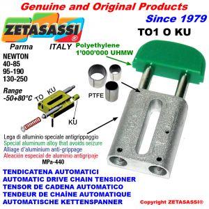 TENSOR DE CADENA AUTOMATICO LINEAL TO1KU cabeza oval (casquillos PTFE) Newton40:85-95:190-130:250