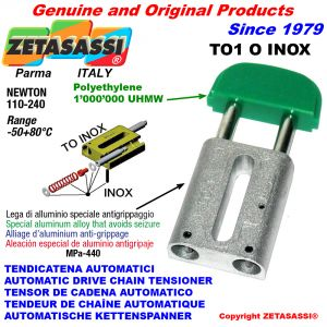 AUTOMATIC LINEAR DRIVE INOX CHAIN TENSIONER TO1INOX oval head Newton110:240