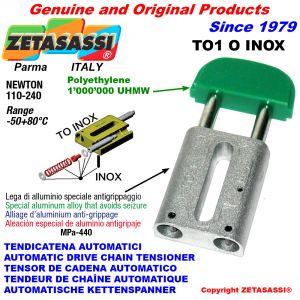 TENSOR DE CADENA AUTOMATICO LINEAL TO1INOX cabeza oval Newton110:240