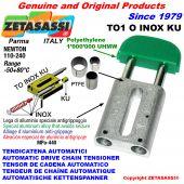AUTOMATISCHE LINEAR INOX KETTENSPANNER TO1 INOX KU Ovalkopf  (PTFE Buchsen) Newton110:240
