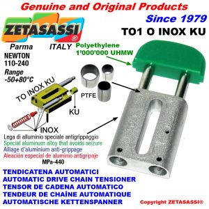 TENSOR DE CADENA AUTOMATICO LINEAL TO1INOXKU cabeza oval  (casquillos PTFE) Newton110:240