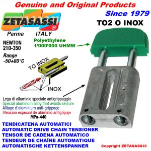 TENSOR DE CADENA AUTOMATICO LINEAL TO2INOX cabeza oval Newton210:350