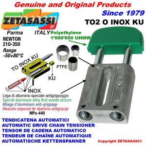TENSOR DE CADENA AUTOMATICO LINEAL TO2INOX KU cabeza oval (casquillos PTFE) Newton210:350
