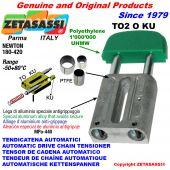 TENSOR DE CADENA AUTOMATICO LINEAL TO2KU cabeza oval  (casquillos PTFE) Newton180:420