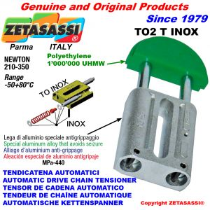 AUTOMATIC LINEAR DRIVE INOX CHAIN TENSIONER TO2 round head Newton210:350