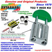 AUTOMATIC LINEAR DRIVE INOX CHAIN TENSIONER TO2KU round head (PTFE bushes) Newton210:350