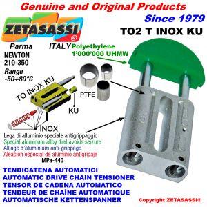 TENSOR DE CADENA AUTOMATICO LINEAL TO2INOX KU cabeza redonda (casquillos PTFE) Newton210:350