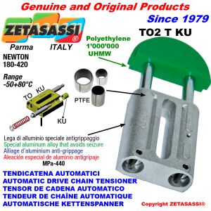 AUTOMATIC LINEAR DRIVE CHAIN TENSIONER TO2KU round head (PTFE bushes) Newton180:420