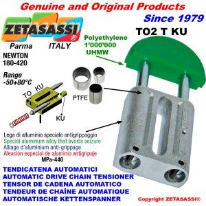 TENSOR DE CADENA AUTOMATICO LINEAL TO2KU cabeza redonda (casquillos PTFE) Newton180:420