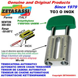 TENSOR DE CADENA AUTOMATICO LINEAL TO3INOX cabeza oval Newton250:450