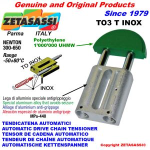 TENSOR DE CADENA AUTOMATICO LINEAL TO3INOX cabeza redonda Newton250:450