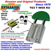 TENDICATENA AUTOMATICO LINEARE TO3INOXKU testa tonda (Boccole PTFE) Newton250:450