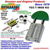 TENSOR DE CADENA AUTOMATICO LINEAL TO3INOXKU cabeza redonda (casquillos PTFE) Newton250:450