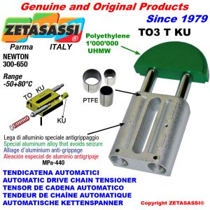 TENSOR DE CADENA AUTOMATICO LINEAL TO3KU cabeza redonda (casquillos PTFE) Newton300:650