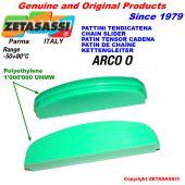 Patin de chaîne Tête à arc ovale en polyéthylène 1000