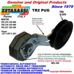 AUTOMATIC ARM BELT TENSIONER TR2PUG with rim pulley Newton120:480