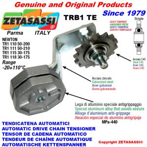 AUTOMATIC ARM CHAIN TENSIONER TRB1 with hardened idler sprocket ACTE Newton30:175