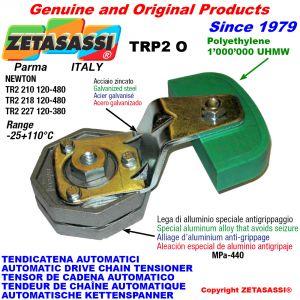 BRAS TENDEUR AUTOMATIQUE DE CHAÎNE TRP2 avec patin tendeur de chaîne tête ovale Newton120:480