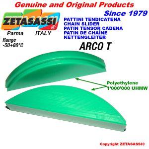 Chain slider Round arch head made of polyethylene 1000
