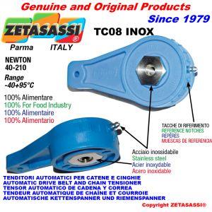 TENSOR TC08 INOX ALIMENTAR con agujero o rosca Newton 40:210