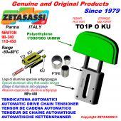 TENSOR DE CADENA AUTOMATICO LINEAL TO1-P MÁS FUERTE KU cabeza oval (casquillos PTFE) Newton90:340-110:450