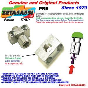 Linear tensioner preloading block