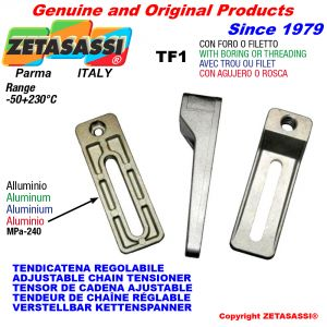 ADJUSTABLE CHAIN TENSIONER TF1 with boring or threading