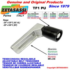 ADJUSTABLE BELT TENSIONER TF1PU with idler roller