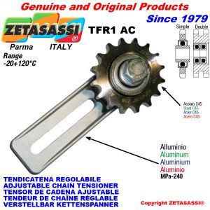 ADJUSTABLE CHAIN TENSIONER TFR1 AC with idler sprocket AC