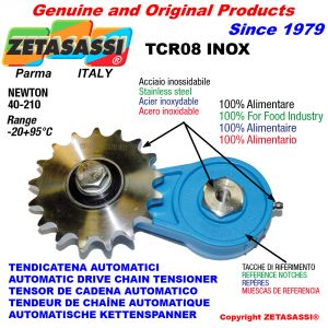 TENSIONER TCR08INOX with sprocket AC INOX Newton40:210