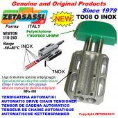 AUTOMATISCHE LINEAR INOX KETTENSPANNER TO08 INOX Ovalkopf  Newton110:240