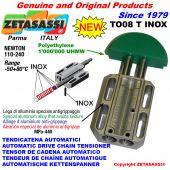 AUTOMATISCHE LINEAR INOX KETTENSPANNER TO08 INOX Rundkopf Newton110:240