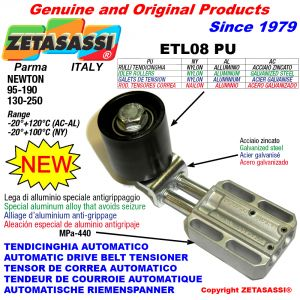 AUTOMATIC LINEAR BELT TENSIONER ETL08 PU with idler roller Newton130:250-95:190